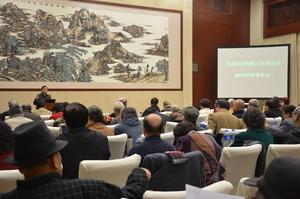 市老科協召開2015年學術年會。協會常務副會長兼秘書長李濤講話。
