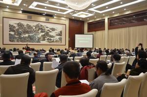 市老科協召開2015年學術年會。市科協學會部副部長王婉瑩到會致辭。